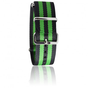 Bracelet Nato James Bond Noir/vert