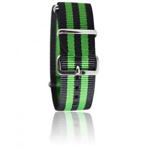 Bracelet James Bond Noir/Vert