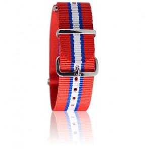 Bracelet Rouge/lis.bleu/blanc
