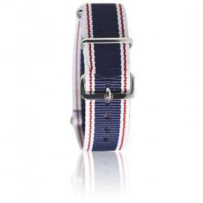 Bracelet Nato  Bleu/blanc lis rouge