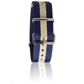 Bracelet Bleu marine/blanc cassé
