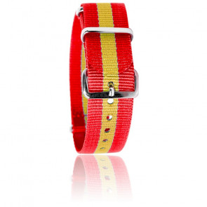 Bracelet Nato Tommy Rouge/jaune