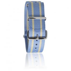 Bracelet Nato Bleu clair/beige