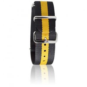 Bracelet Tommy Noir/jaune moutarde