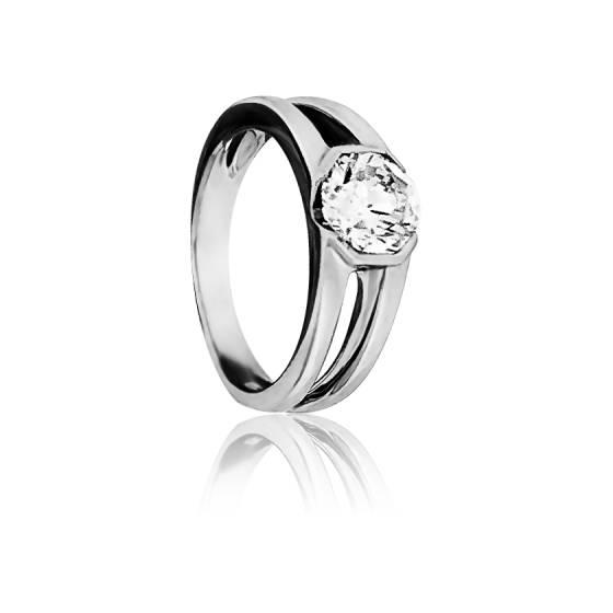 solitaire diamant 2 brins en or blanc 18 carats ocarat. Black Bedroom Furniture Sets. Home Design Ideas