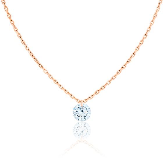 Collier Tourbillon d'Apesanteur Diamant F/VS2 & Or Rose 18K