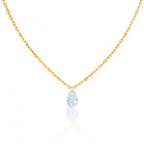 Collier Goutte Céleste Diamant F/VS2 & Or Jaune 18K
