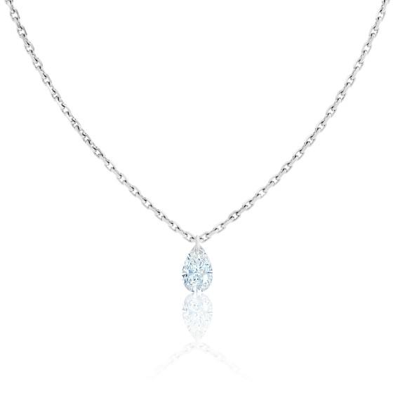 Collier Goutte Céleste Diamant F/VS2 & Or Blanc 18K
