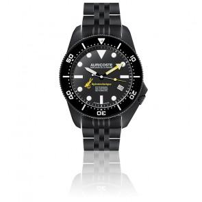 Coffret Spirotechnique 300M Black DLC Cadran Index Bracelet Acier, Nato et Tropic A9211