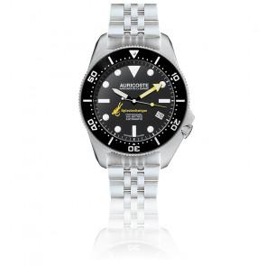 Coffret Spirotechnique 300M Acier Cadran Index Bracelet Acier, Nato et Tropic A9111
