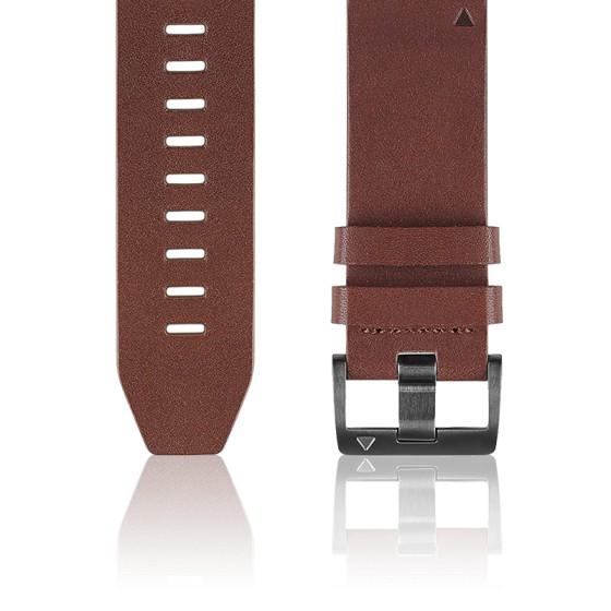 Bracelet Quickfit Cuir marron 26 mm 010-12517-04 pour Fēnix 5X
