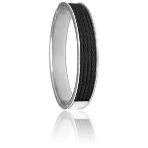 Bracelet Forever 4 rangs Acier & PVD Noir