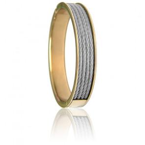 Bracelet Forever 4 rangs Acier & PVD Jaune