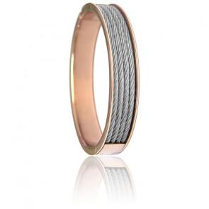 Bracelet Forever 4 rangs Acier & PVD Rose