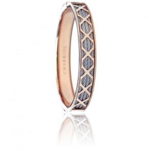 Bracelet Forever X Acier & PVD Rose