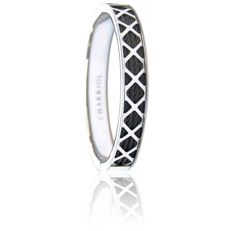 Charriol Forever Bracelet en Acier Inoxydable
