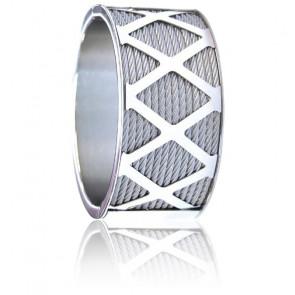 Bracelet Manchette Forever X Acier