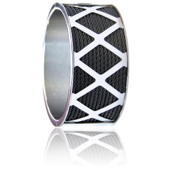 Bracelet Manchette Forever X Acier & PVD Noir