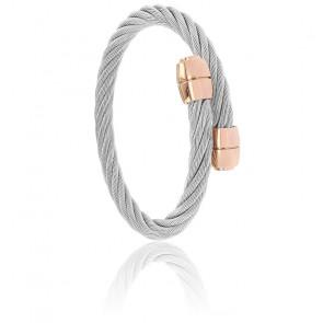 Bracelet Celtic Olive Acier & Rose Doré