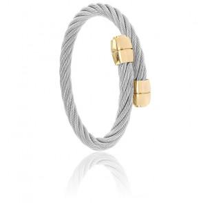 Bracelet Celtic Olive Acier & PVD Jaune