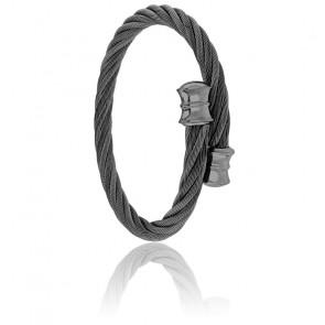 Bracelet Celtic Décor Acier & PVD Black Gun