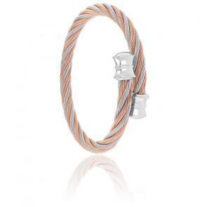 Bracelet Celtic Décor Acier & PVD Rose Alterné