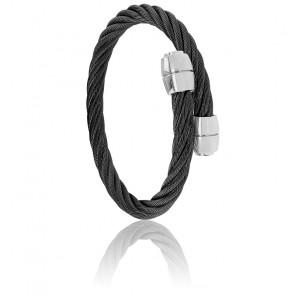 Bracelet Celtic Olive Acier & PVD Noir
