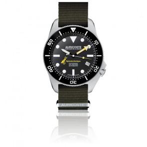 Coffret Spirotechnique 300M Black DLC Cadran Index Bracelet Nato et Tropic A9101