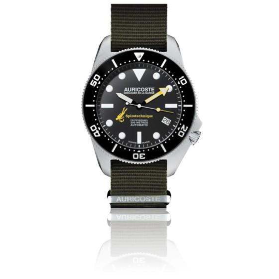 Coffret Spirotechnique 300M Acier Cadran Index Bracelet Nato et Tropic A9101
