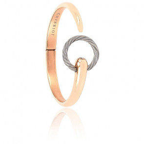 Bracelet Infinite Zen Acier & PVD Rose