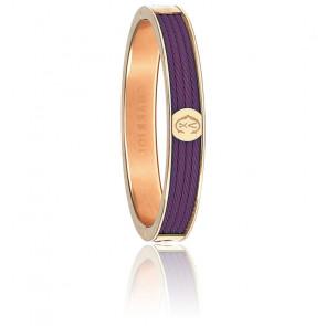 Bracelet Forever 4 Rangs Prune Acier & PVD Rose