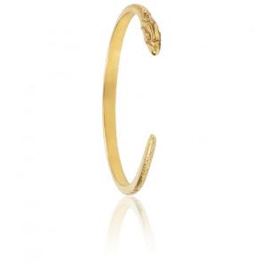 Bracelet Jonc Snake Doré