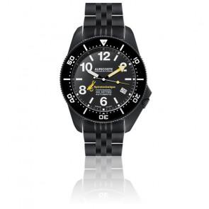 Coffret Spirotechnique 300M Black DLC Cadran Index Bracelet Acier, Nato et Tropic A9212
