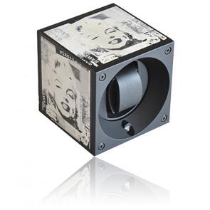Ecrin rotatif Masterbox Aluminium Black POPArt with Marilyn Engraving