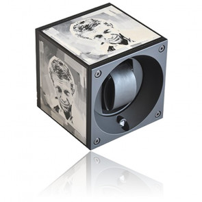 Ecrin rotatif Masterbox Aluminium Black POPArt with Steve McQueen