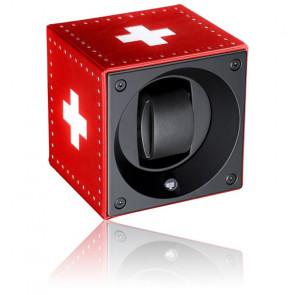 Ecrin Rotatif Masterbox Leather - Swiss Flag