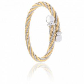 Bracelet Celtic Cordon Acier & PVD Jaune Alterné