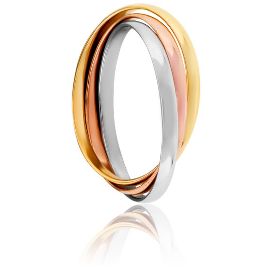 Bague Finesse, 3 Ors 18K, 1,5 mm