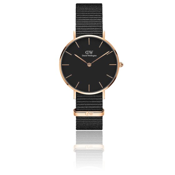 Classic Petite Cornwall 32 mm Cadran Noir/PVD Or Rose DW00100215