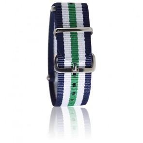 Bracelet marine/blanc/vert/bleu marine