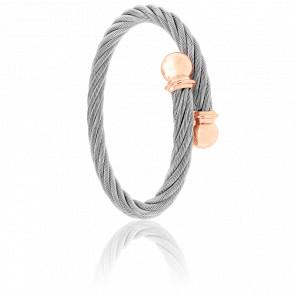 Bracelet Celtic Cordon Acier & PVD Rose