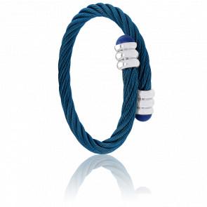 Bracelet Celtic Lapis Lazuli, Acier & PVD Bleu