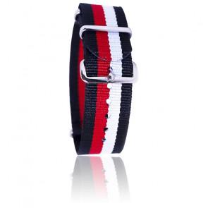 Bracelet Noir/rouge/blanc