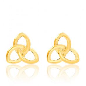 Boucles d'oreilles Triquetra en or jaune 18 carats