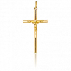 Christ en Croix Fil Rond Or Jaune 9K