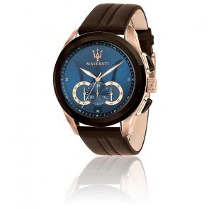 Montre Traguardo Blue Dial Brown R8871612024