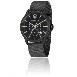Epoca Chronographe Black Dial R8873618006