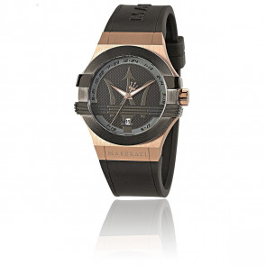 Montre Potenza Black/Pink Gold R8851108002
