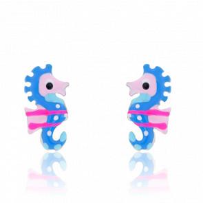 Boucles d'Oreilles Hippocampe Argent