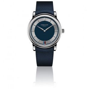 Men's Heritage 40 Acier Inoxydable/Cadran Bleu